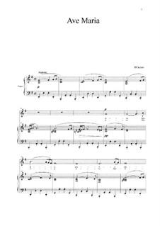 Ave Maria: Para vocais e piano by Giulio Caccini