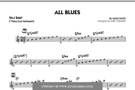 All Blues: C Solo Sheet part by Miles Davis