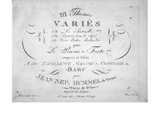 Trois themes variés, Op.34: Partant pour la Syrie by Johann Nepomuk Hummel