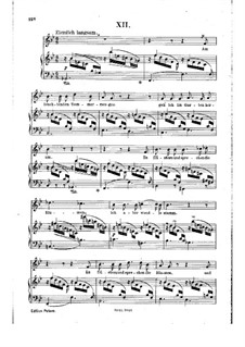 No.12 On a Sunny Summer Morning: Partitura piano-vocal by Robert Schumann