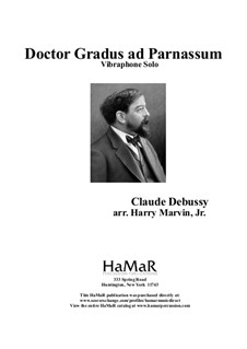No.1 Doctor Gradus ad Parnassum: For vibraphone by Claude Debussy