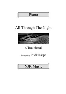 All Through the Night: For intermediate piano by folklore