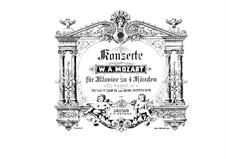 Concerto for Piano and Orchestra No.20 in D Minor, K.466: arranjos para dois pianos de quatro mãos by Wolfgang Amadeus Mozart