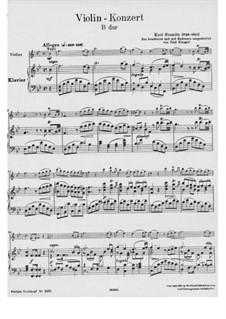 Concerto for Violin and Orchestra in B Flat Major: versão para violino e piano by Carl Stamitz