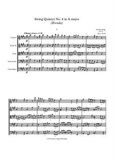 String Quintet No.4 in A major (Brenda): String Quintet No.4 in A major (Brenda) by Jordan Grigg