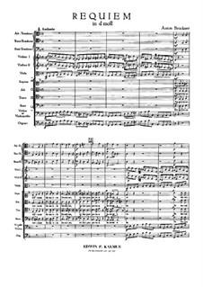 Requiem in D Minor, WAB 39: partitura completa by Anton Bruckner