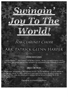 Joy to the World: For clarinet choir by Georg Friedrich Händel