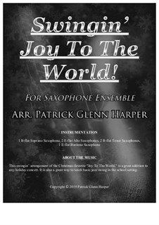 Joy to the World: For saxophone ensemble by Georg Friedrich Händel