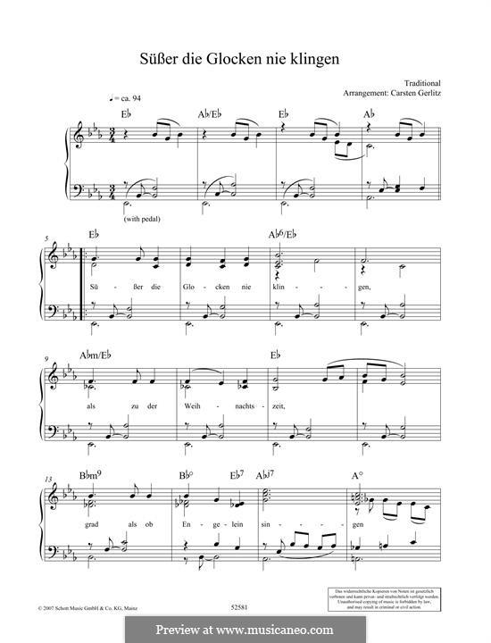 Süsser die Glocken nie klingen: Para Piano by folklore