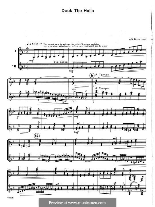 10 Christmas Carols for Two Marimbas: 10 Christmas Carols for Two Marimbas by folklore