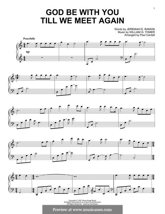 God Be with You: Para Piano by William Gould Tomer