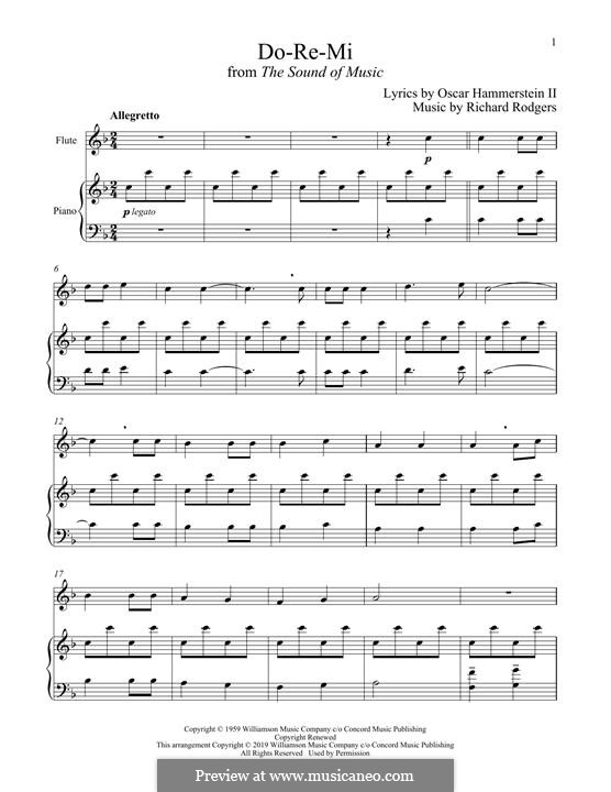 Do-Re-Mi (from The Sound of Music): para flauta e piano by Richard Rodgers