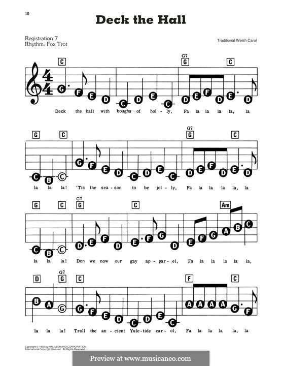 Deck the Hall, for Piano: Versão Facil by folklore