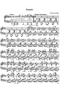 Sonata for Piano No.2 in B Flat Minor, Op.35: para um único musico (Editado por H. Bulow) by Frédéric Chopin