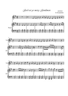 God, Rest Ye Merry Gentlemen: para violino by Unknown (works before 1850)