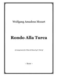Rondo alla turca: para flauta e piano by Wolfgang Amadeus Mozart