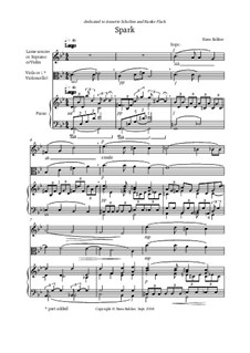 Spark for lame sonore or soprano vocalise or violin, viola or cello and piano: Spark for lame sonore or soprano vocalise or violin, viola or cello and piano by Hans Bakker