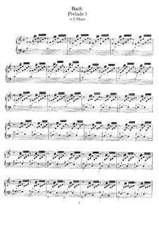 Prelude and Fugue No.1 in C Major, BWV 846: para cravo by Johann Sebastian Bach