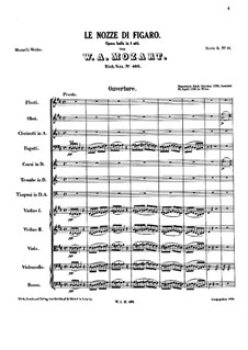 Complete Opera: partitura completa by Wolfgang Amadeus Mozart