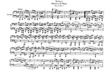 Three Marches , Op.45: March in D Major, for piano four hands by Ludwig van Beethoven