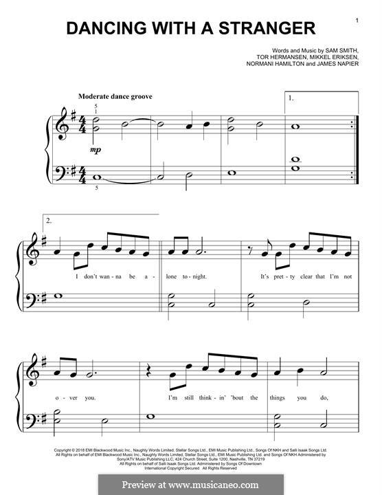 Dancing with a Stranger (Sam Smith & Normani): Para Piano by Mikkel Storleer Eriksen, Samuel Smith, Tor Erik Hermansen, James Napier, Normani Hamilton