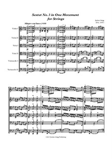Sextet No.3 in One Movement for Strings: Sextet No.3 in One Movement for Strings by Jordan Grigg