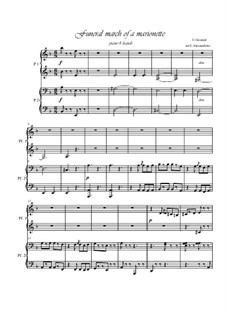 Funeral March of Marionette: para piano de quadro mãos by Charles Gounod