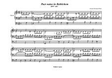 Puer natus in Bethlehem, BWV 603: para orgãos by Johann Sebastian Bach