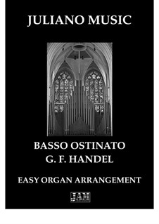 Concerto No.5 in G Minor, HWV 310: Basso Ostinato, for easy organ - C version by Georg Friedrich Händel