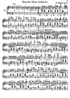 Selected Waltzes: No.1-9 by Frédéric Chopin