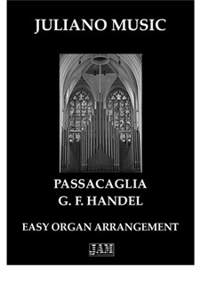 Suite No.7 in G Minor, HWV 432: Passacaglia, for easy organ - C version by Georg Friedrich Händel
