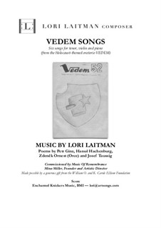 Vedem Songs: For tenor, violin and piano (score and violin part included) by Lori Laitman