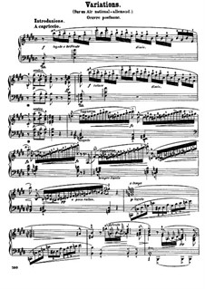 Introduction and Variation on the German Air 'Der Schweizerbub', B.14 KK IVa/4: Para Piano by Frédéric Chopin