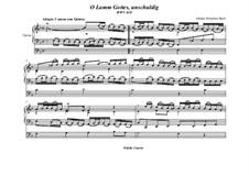 O Lamm Gottes, unschuldig, BWV 618: Für Orgel by Johann Sebastian Bach