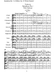Symphony No.1 in G Minor 'Winter Daydreams', TH 24 Op.13: partitura completa by Pyotr Tchaikovsky