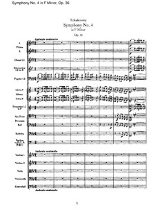Symphony No.4 in F Minor, TH 27 Op.36: partitura completa by Pyotr Tchaikovsky