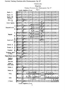 Hamlet. Overture-Fantasia, TH 53 Op.67: partitura completa by Pyotr Tchaikovsky
