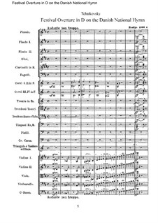 Festival Overture on the Danish National Anthem, TH 41 Op.15: partitura completa by Pyotr Tchaikovsky