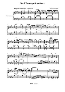 No.3 Tuileries. Dispute between Children at Play: Para Piano by Modest Mussorgsky