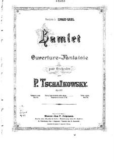 Hamlet. Overture-Fantasia, TH 53 Op.67: para piano de quadro mãos by Pyotr Tchaikovsky