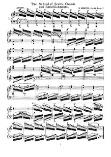 The School of Scales, Chords and Embellishments, Op.88: todos os Etudes by Johann Hermann Berens