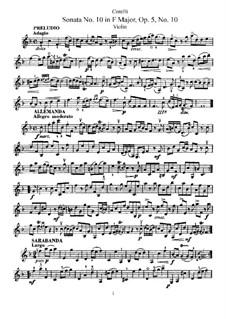 Sonata No.10: Parte de solo by Arcangelo Corelli