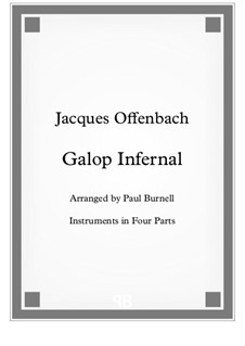 Can-Can: For instruments in four parts - score and parts by Jacques Offenbach