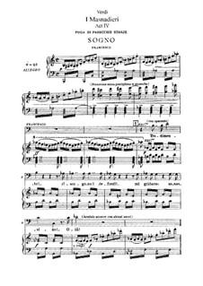 I Masnadieri (The Bandits): acto IV, para solistas,coral e piano by Giuseppe Verdi