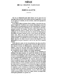 Roméo et Juliette (Romeo and Juliet), H.79 Op.17: para vozes e piano by Hector Berlioz