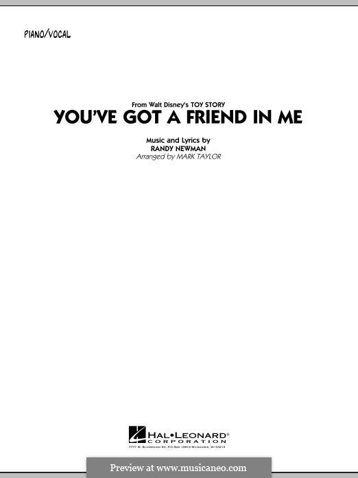 You've Got a Friend in Me (from Disney's Toy Story): Para vocais e piano by Randy Newman