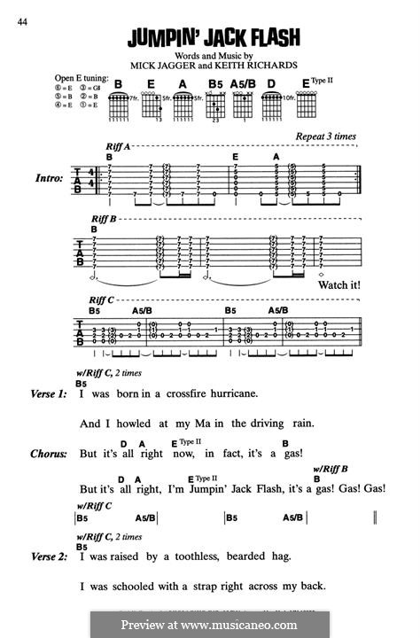 Jumping Jack Flash (The Rolling Stones): Letras e Acordes by Keith Richards, Mick Jagger