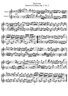 Sonata for Two Flutes in G Minor, Op.1 No.2: Sonata for Two Flutes in G Minor by Joseph Bodin de Boismortier