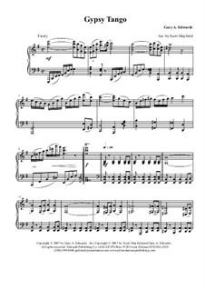 The Gypsy Tango: Para Piano by Gary Edwards