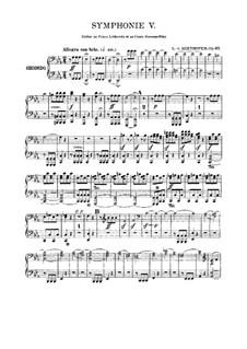 Complete Symphony: versão para piano de quatro mãos by Ludwig van Beethoven